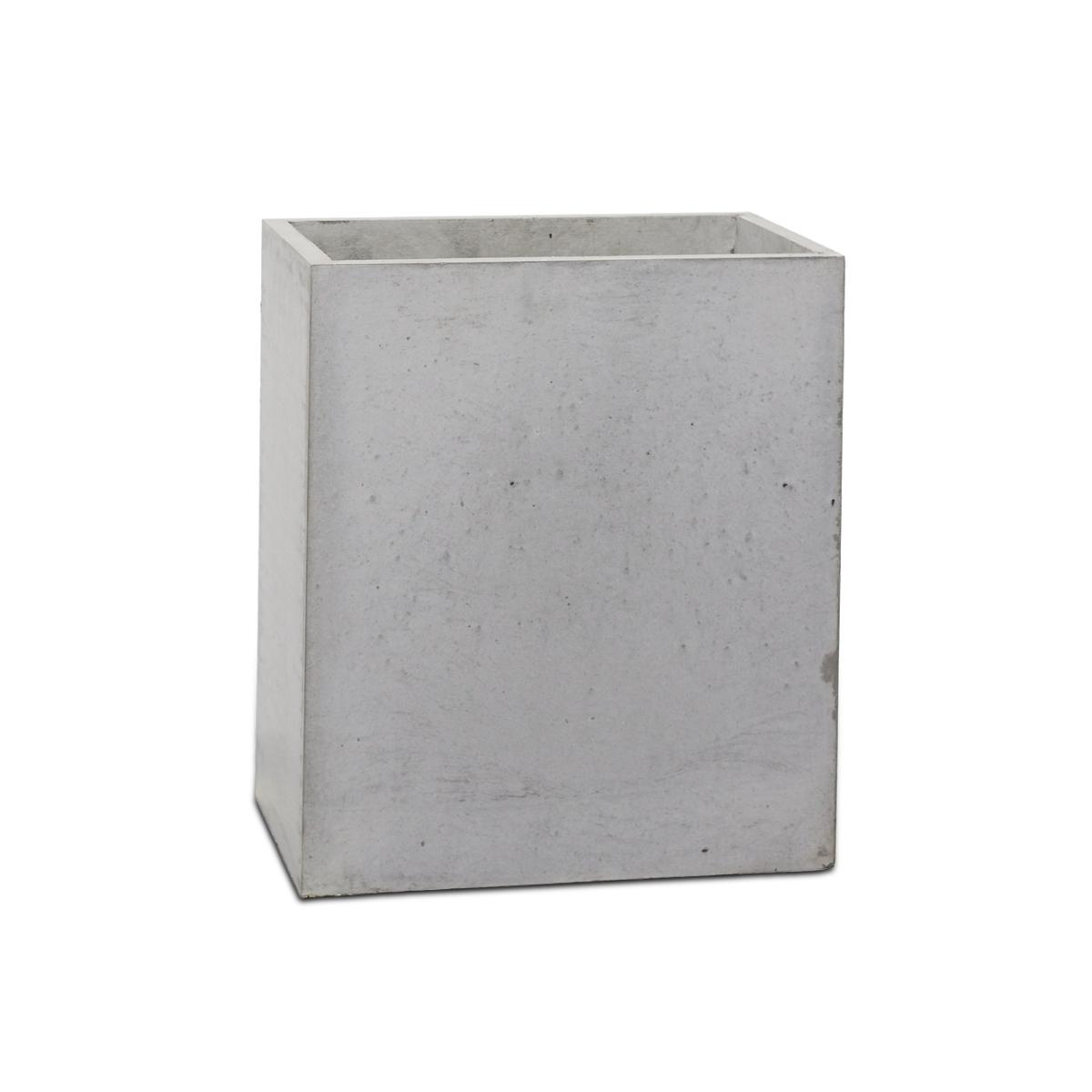 Nietypowy Okaz Szara donica z betonu architektonicznego Block L 75x75x75 cm KN35